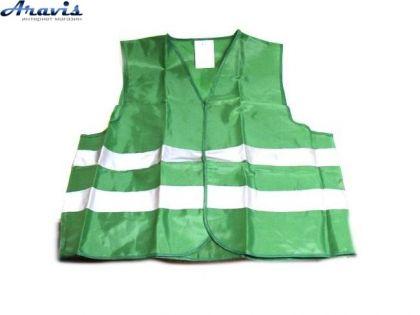 Жилет безопасности светоотражающий  ЖБ-002 XL (green)