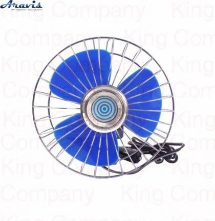 """Автомобильный вентилятор 12 вольт 6"""" King KF-0085 для авто"""