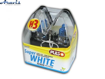 Галогенка H3 PULSO 12V 55W LP-32551 Super white/ пластик