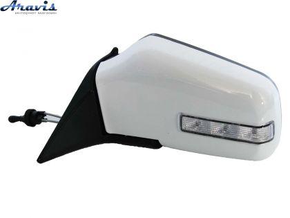 Боковые зеркала универсальные белые с регулировкой и повторителем ЗБ-3287А