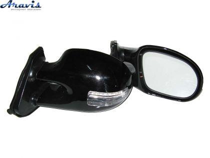 Боковые зеркала универсальные черные с повторителем 3252C