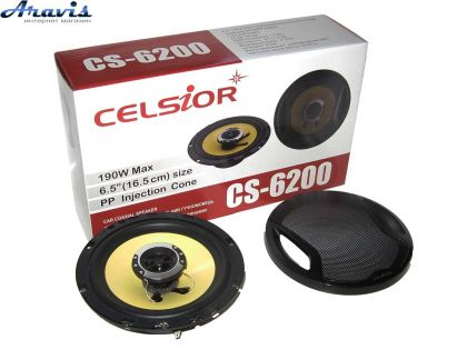 Колонки для авто 16 см Celsior CS-6200 yellow