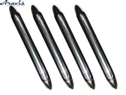 Накладки на бампер XB-252 black/nickel