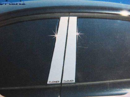 Накладки на дверные стойки хром Chevrolet Aveo (4 Dr)