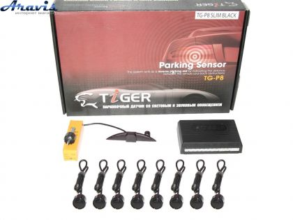 Парктроник TIGER TG-P8LED 8дат SLIM Black/black