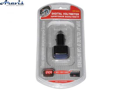 Вольтметр в прикуриватель 12-24V (3 знака) 0224/WF-021