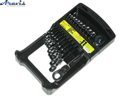 Набор ключей рожково-трещоточных  11шт с карданом 8-19 мм. ALLOID НК-2081-11K