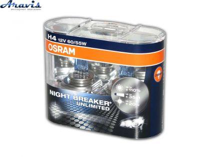 Галогенка H4 OSRAM 12V 60/55W +110% 64193NBU Unlimited