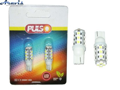 Лампочка без цок.Т10 16LED PULSO LP-21316 SMD-3528/12V White