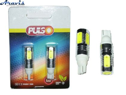 Лампочка без цок.Т10  5LED PULSO LP-21755 SMD-HP/12V/7.5W White