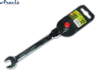 Ключ рожково-трещоточный 12 мм. с карданом КТ-2081-12K Alloid
