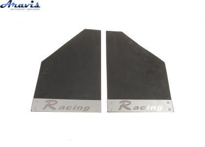 Брызговики для авто King KF-038 Racing чёрные нержавейка
