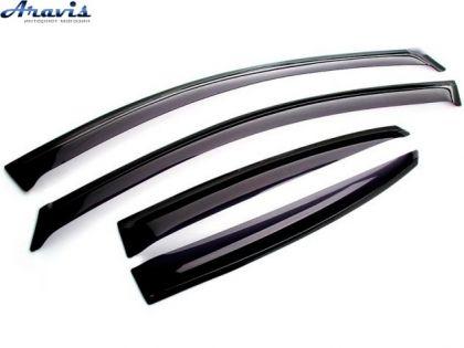 Дефлекторы окон ветровики VW Polo HTB 09- на скотче