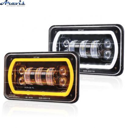 Дополнительные светодиодные фары LED Лидер 55вт + 30вт линза + ДХО + поворот ближний+ дальний