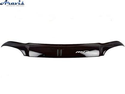 Дефлектор капота мухобойка Daewoo Matiz короткая скотч+пластина Anv-Air