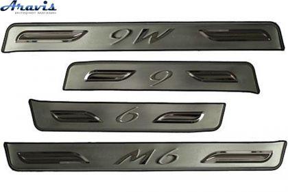 Накладки на пороги металлические MAZDA 6