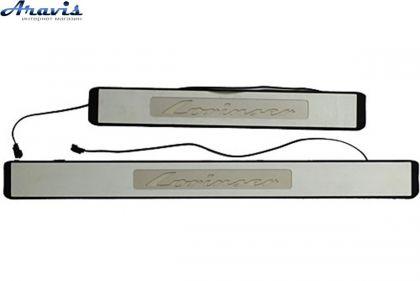 Накладки на пороги с подсветкой BENZ W211