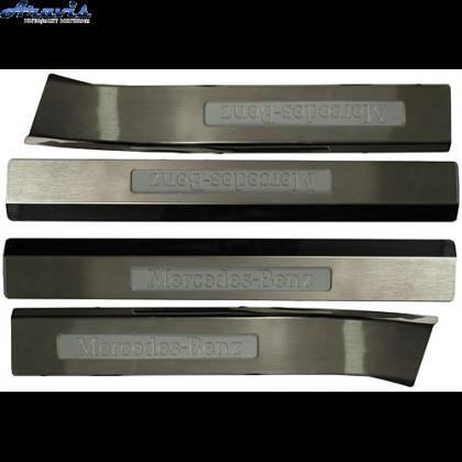 Накладки на пороги с подсветкой BENZ W220 S350 (02~)