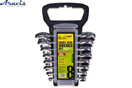 Набор ключей трещоточных укороченных 8 предм. Alloid