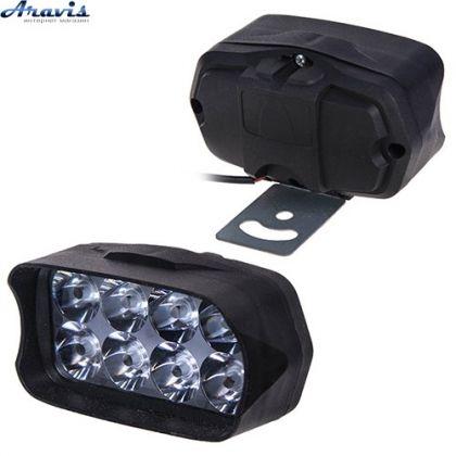 Дополнительные светодиодные фары LED Лидер JP057 10W прямоугольные дальний